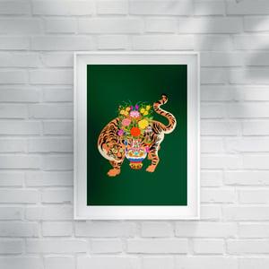 Image of GOOD LUCK TIGER - A3 print