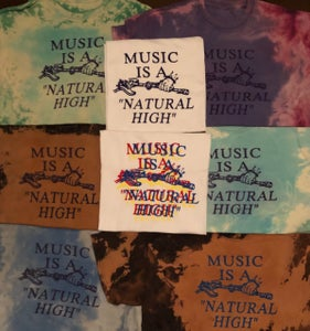 "Image of MUSIC IS A ""NATURAL HIGH"" T-shirts, long sleeve T-shirts & sweatshirts •"