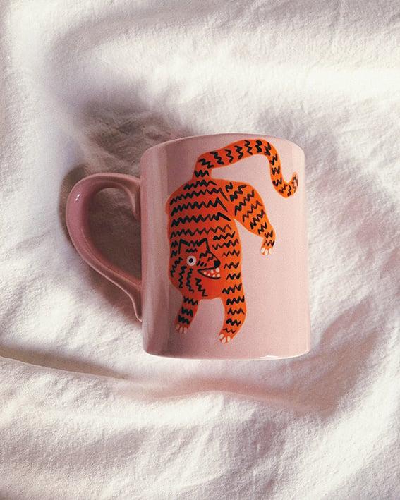 Image of Tiger & sun ceramic mug