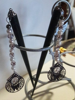 Image of Purple Butterfly Hair Sticks