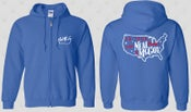 Image of On Tour With Neal McCoy USA Map Zip Up Hoodie