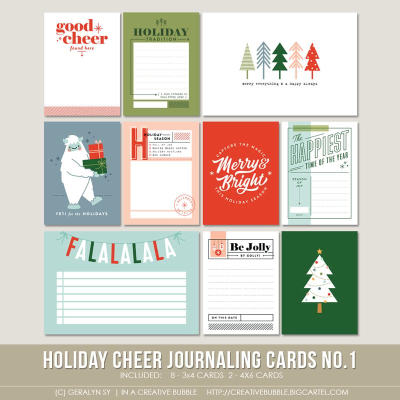 Image of Holiday Cheer Journaling Cards No.1 (Digital)