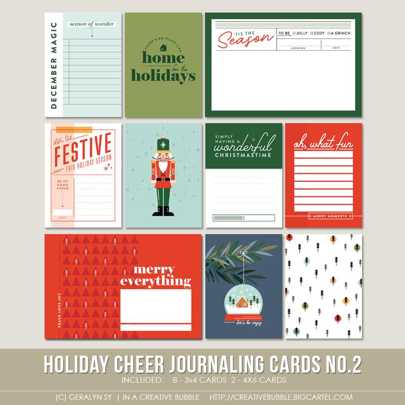 Image of Holiday Cheer Journaling Cards No.2 (Digital)