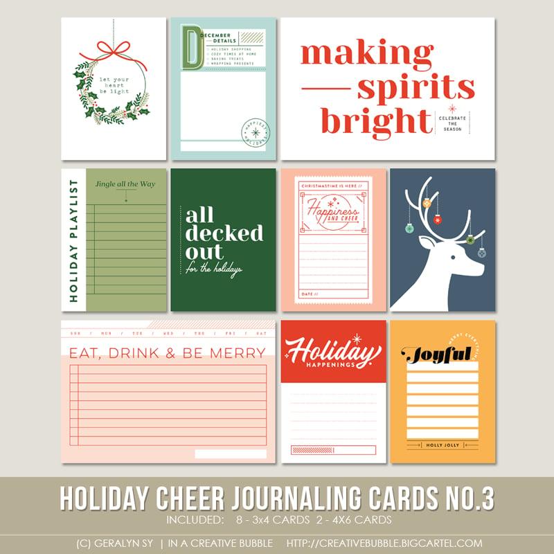 Image of Holiday Cheer Journaling Cards No.3 (Digital)