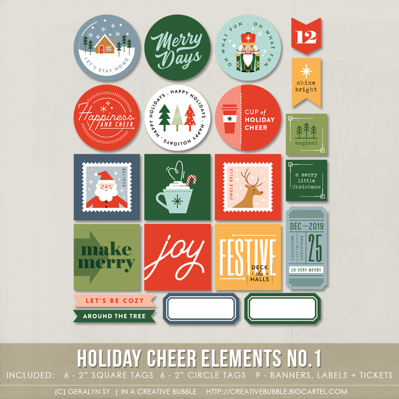 Image of Holiday Cheer Elements No.1 (Digital)