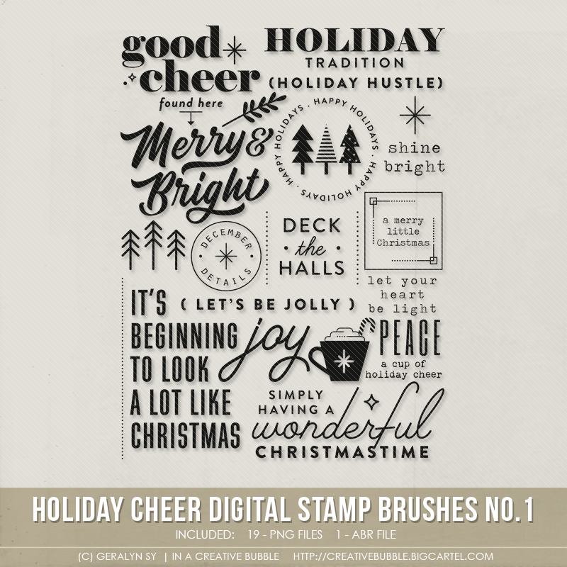 Image of Holiday Cheer Stamp Brushes No.1 (Digital)