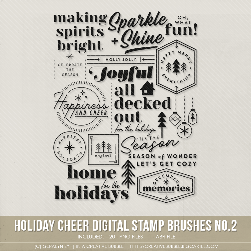 Image of Holiday Cheer Stamp Brushes No.2 (Digital)