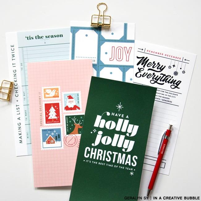 Image of Remember December Traveler's Notebook Papers (Digital)