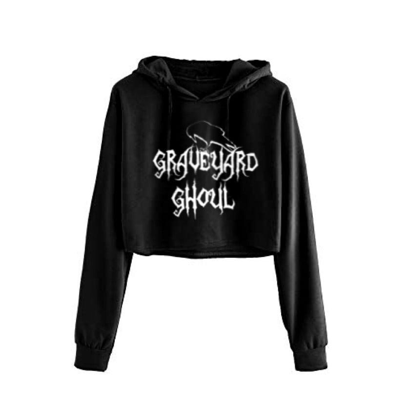 Image of Graveyard Ghoul Cropped Hoodie
