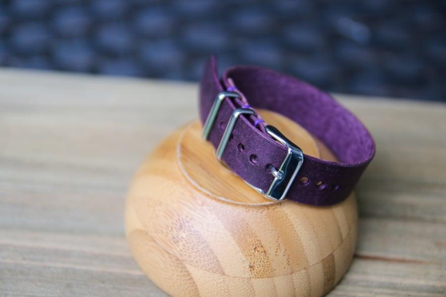 Image of One Piece Watch Strap in Purple Badalassi Carlo Pueblo