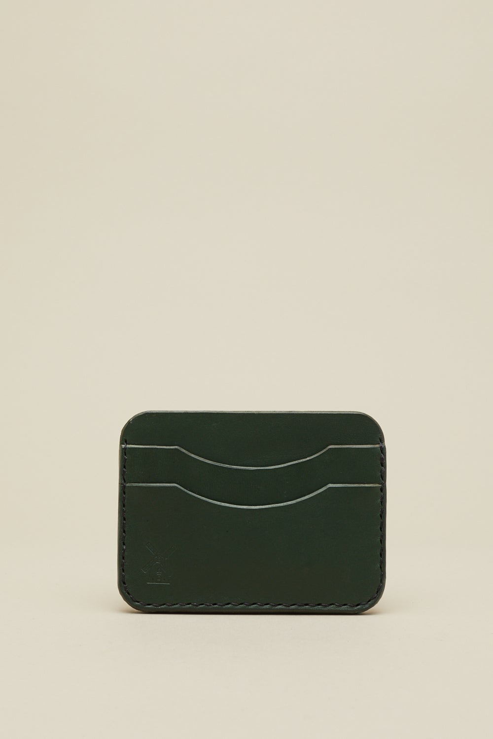Image of Double Card Holder in Racing Green