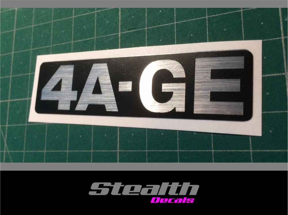 Image of AE86 4A-GE Timing belt cover replacement sticker