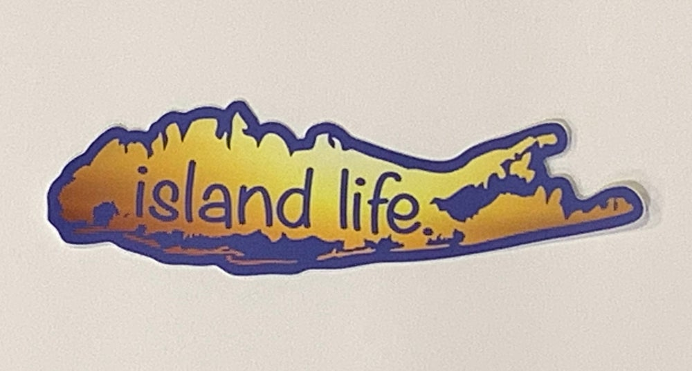 Image of Island Life Sunset Decal