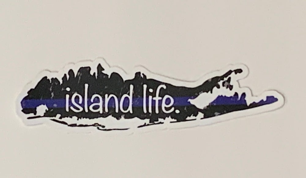 Image of Island Life Thin Blue Line Decal