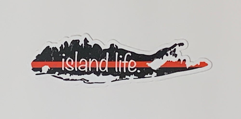 Image of Island Life Thin Red Line Decal