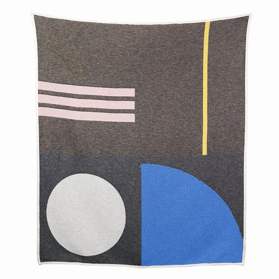 Image of Bauhaused 5 Cotton Blanket by ZigZag Zurich