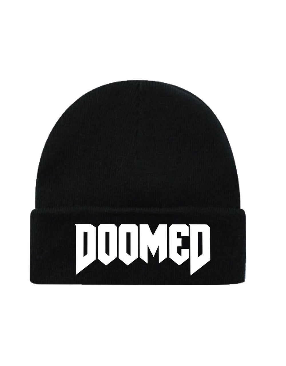 Image of DOOMED Cuffed Beanie