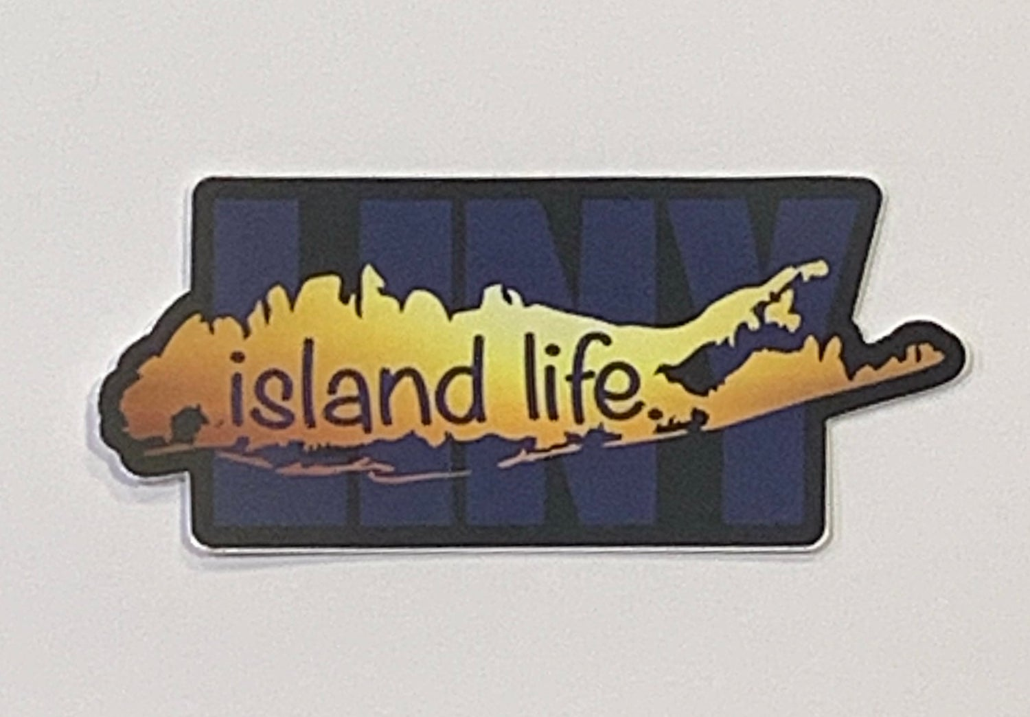 Image of Island Life Sunset LINY Decal