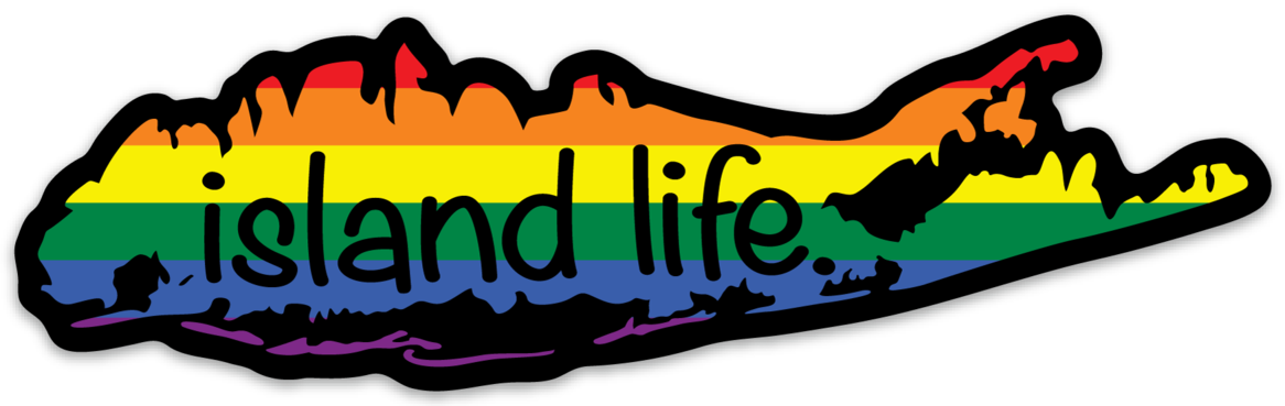 Image of Island Life PRIDE Decal