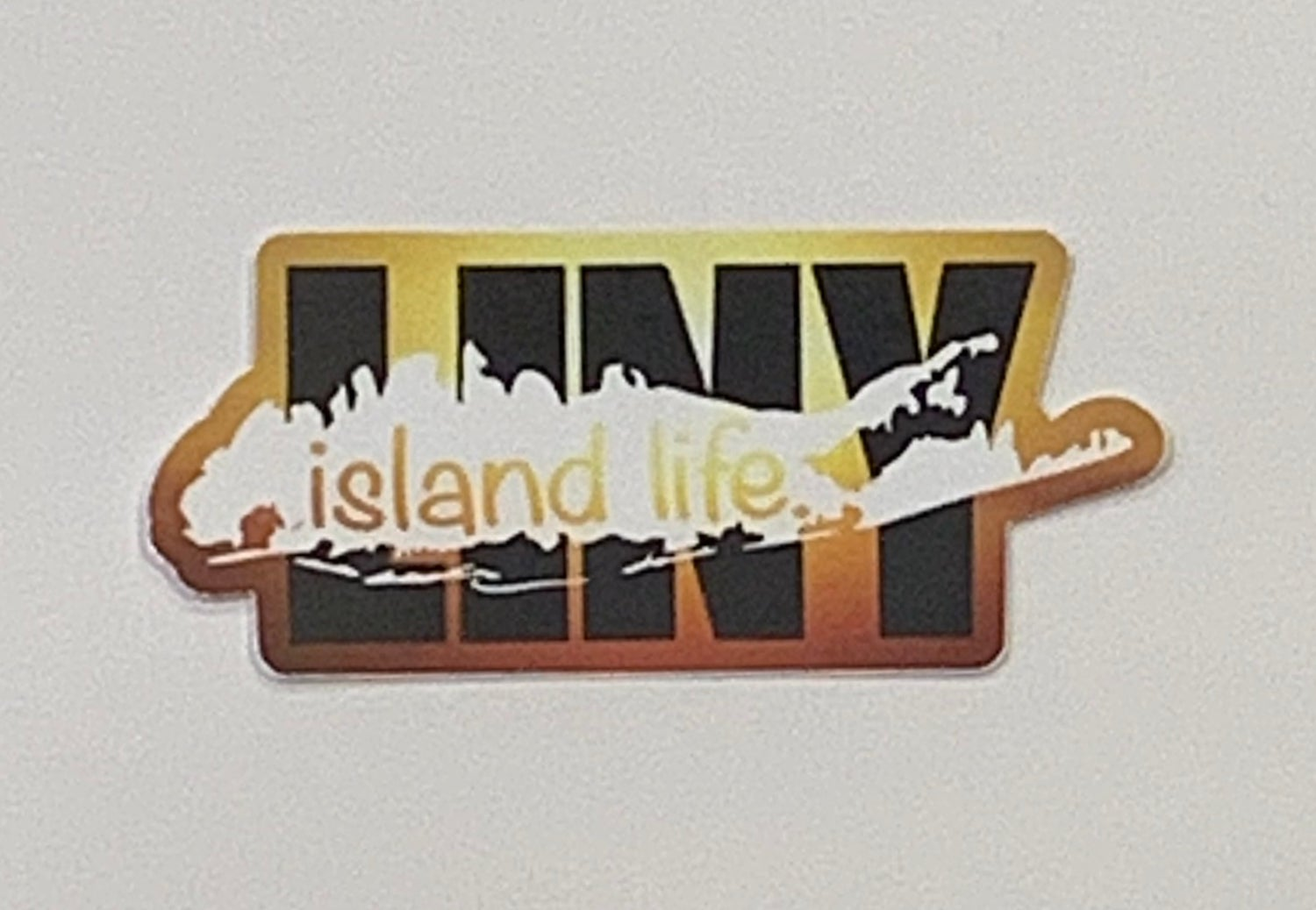 Image of Island Life LINY Sunset Background Decal