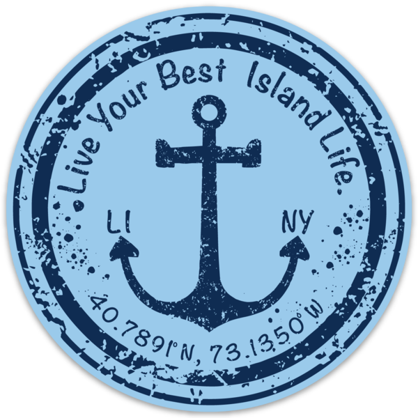 Image of Live Your Best Island Life Anchor Decal