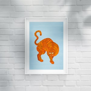 Image of TIGER blue - A3 print