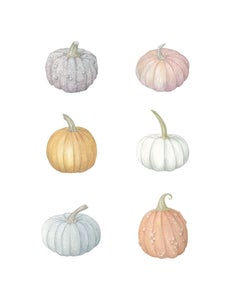 Image of Six Pumpkins 8x10 print