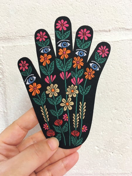 Image of Floral Hand Iron on Patch
