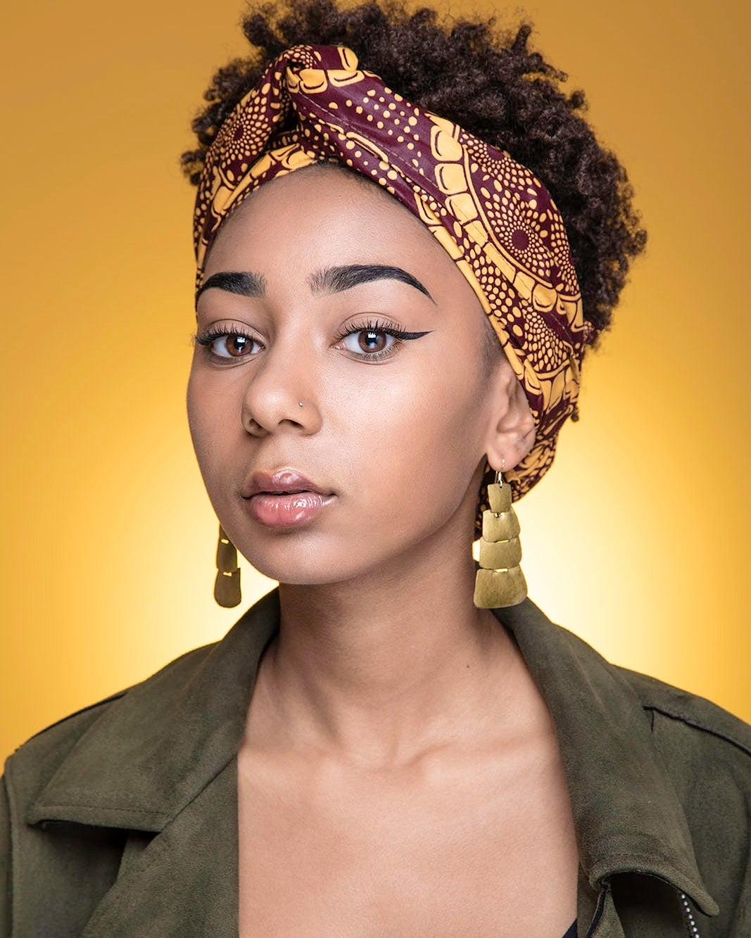 "Image of Headwrap ""SUNFLOWERS"""