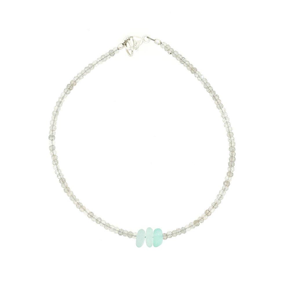 Image of Toyohara Bracelet - Genuine Sea Glass Labradorite
