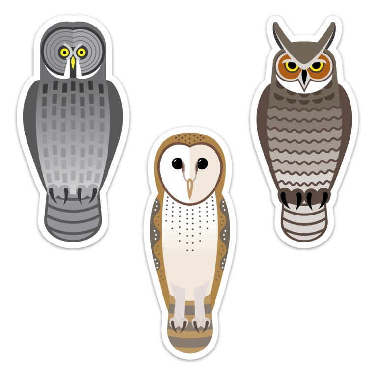 Image of SPOOKY OWLS STICKER SET