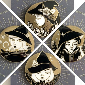 Image of Summer Solstice Witch Pin: your choice