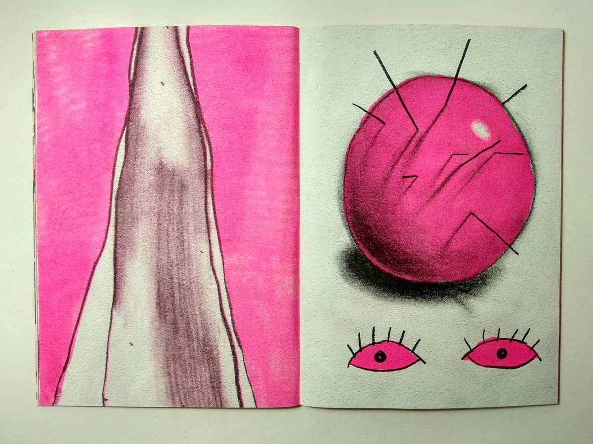 """Image of """"This Is Not a Window, It's a Sad Concrete Pit"""" Risograph Zine"""
