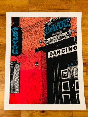 Image of The Bayou Silk Screened Art Print Poster - Version 3