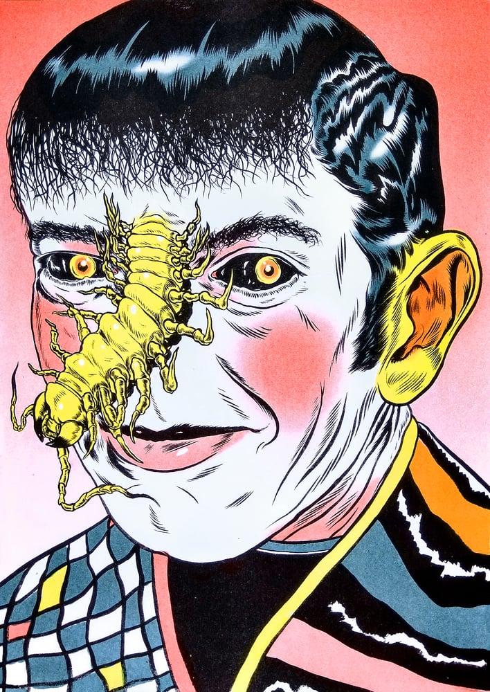 "Image of ""Centipede Nose"" Riso Print (Four Colours)"