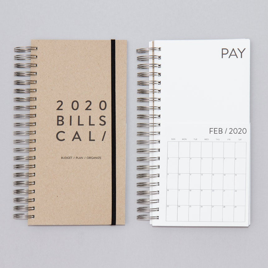 Image of Dated Bills Calendar 2020