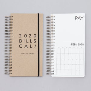Image of Dated Bills Calendar 2020
