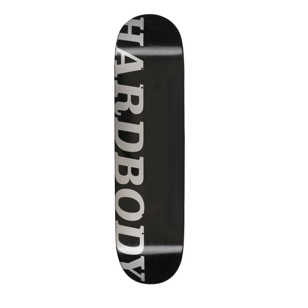 Image of HARDBODY LOGO DECK - BLACK/SILVER