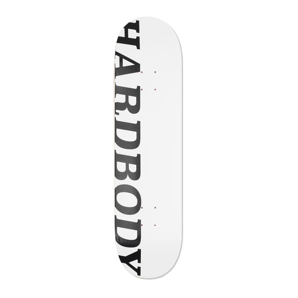 Image of HARDBODY LOGO DECK - WHITE/BLACK