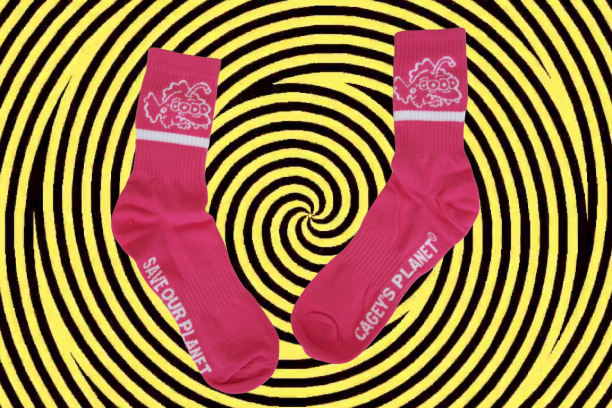 Image of Save Our Planet Socks (Pink)