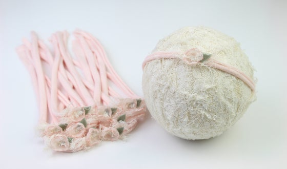Image of Soft Pink Sweet Petite Tieback