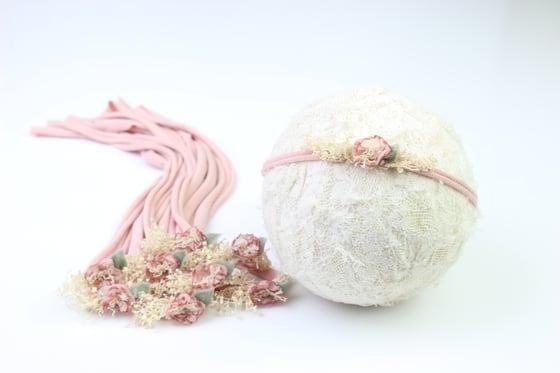 Image of Rose Sweet Petite Tieback