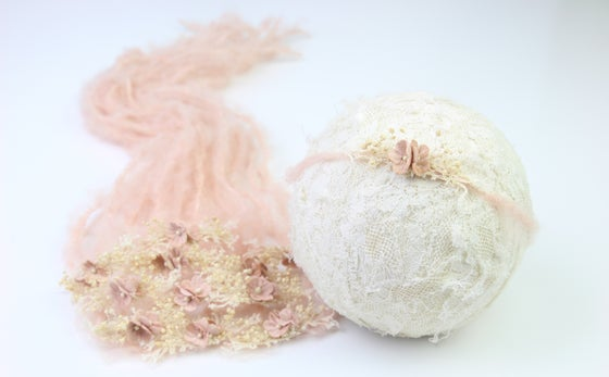 Image of Blush Sweet Petite Mohair Tieback