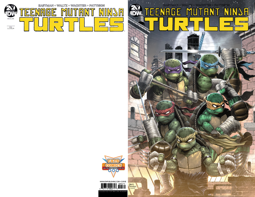 Image of IDW TMNT #100 Fats Comics Retailer Exclusive with original head sketch +. FREE SHIPPING WORLDWIDE
