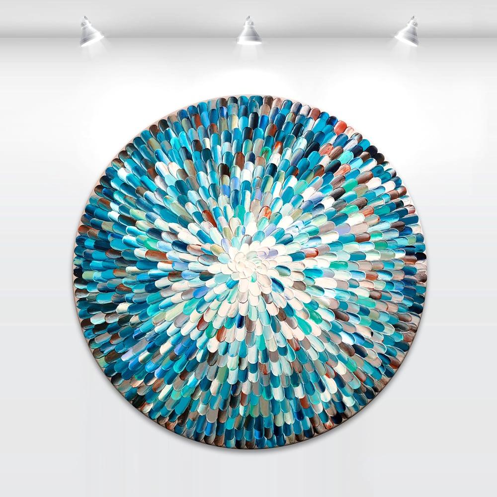 Image of Crystalus aqua II - 76x76cm