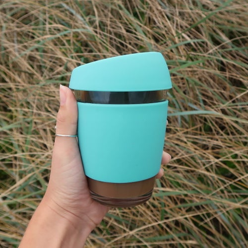 Image of 12oz Green - Wave Glass
