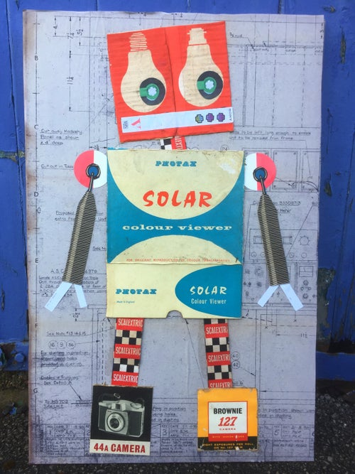 Image of Robot collage A3 prints