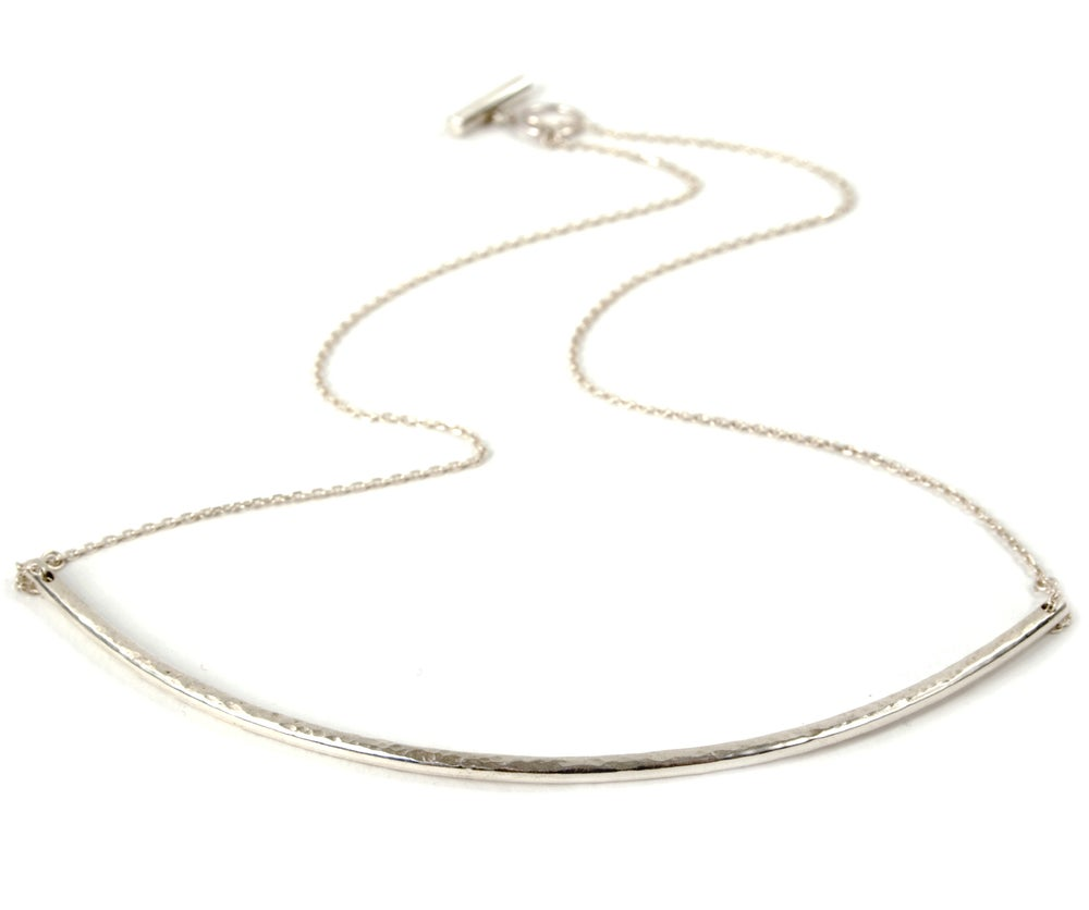 Image of Silver Arc necklace