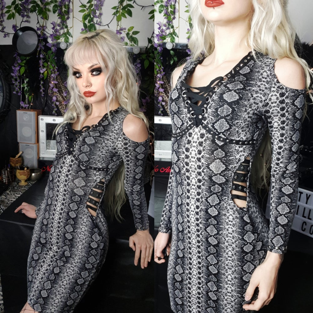 Image of Sweet Emotion - Snake Print Dress