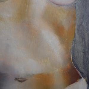 Image of 1930's Painting, 'Paris Nude,' Louis Moyano (1907-?)